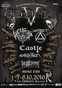 Antisect Old Grave Festival 2016 Poster